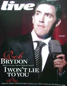 Live magazine - Rob Brydon cover (15 November 2009)
