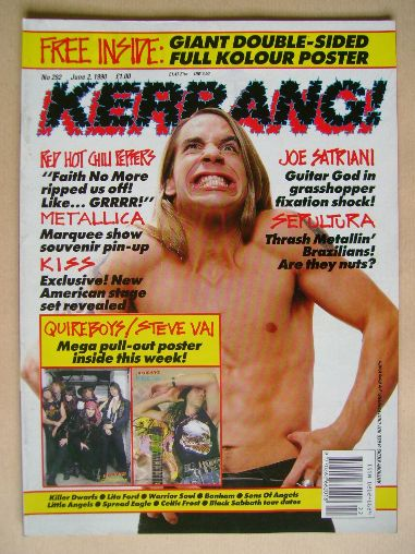 <!--1990-06-02-->Kerrang magazine - Anthony Kiedis cover (2 June 1990 - Iss