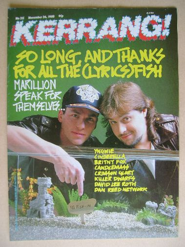 <!--1988-11-26-->Kerrang magazine - Mark Kelly and Steve Rothery cover (26