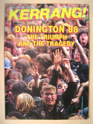 <!--1988-09-03-->Kerrang magazine - Donington '88 cover (3 September 1988 -