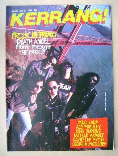 <!--1988-06-18-->Kerrang magazine - Death Angel cover (18 June 1988 - Issue