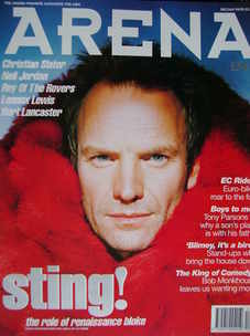 <!--1994-12-->Arena magazine - December 1994/January 1995 - Sting cover