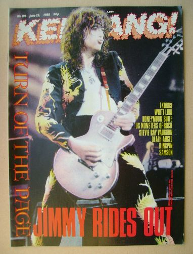 <!--1988-06-25-->Kerrang magazine - Jimmy Page cover (25 June 1988 - Issue