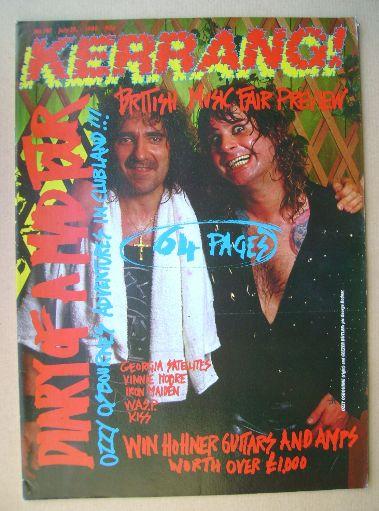 <!--1988-07-23-->Kerrang magazine - Ozzy Osbourne and Geezer Butler cover (