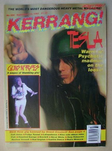 <!--1991-09-14-->Kerrang magazine - Jeff Keith cover (14 September 1991 - I