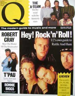 Q magazine - U2 cover (November 1988)