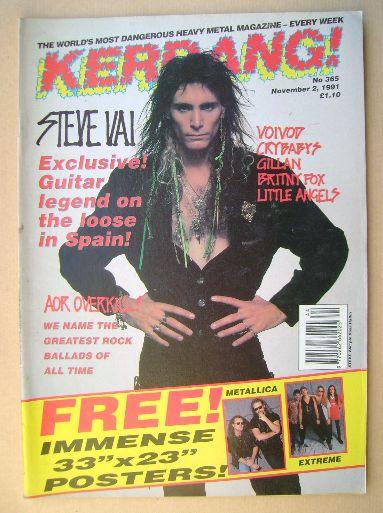 <!--1991-11-02-->Kerrang magazine - Steve Vai cover (2 November 1991 - Issu