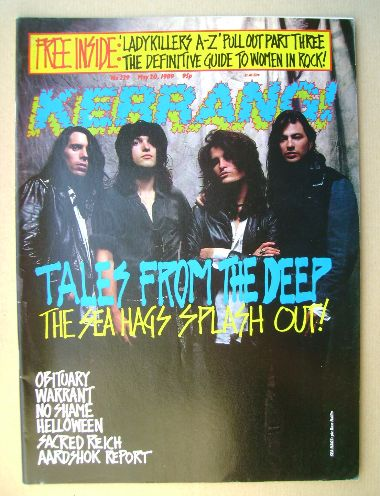 <!--1989-05-20-->Kerrang magazine - Sea Hags cover (20 May 1989 - Issue 239