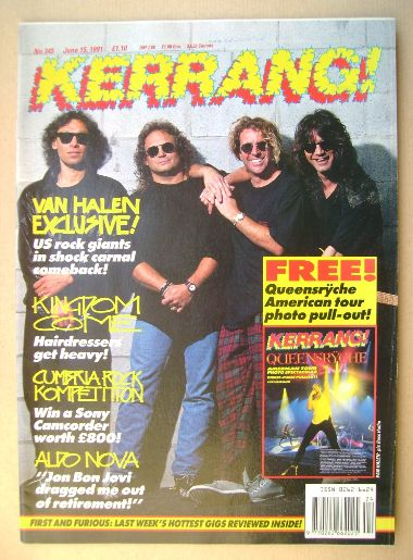 <!--1991-06-15-->Kerrang magazine - Van Halen cover (15 June 1991 - Issue 3