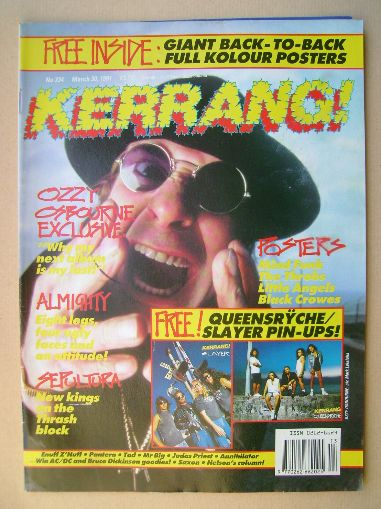 <!--1991-03-30-->Kerrang magazine - Ozzy Osbourne cover (30 March 1991 - Is