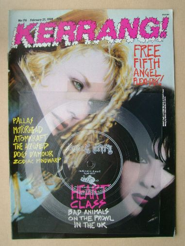 <!--1988-02-27-->Kerrang magazine - Nancy and Ann Wilson cover (27 February