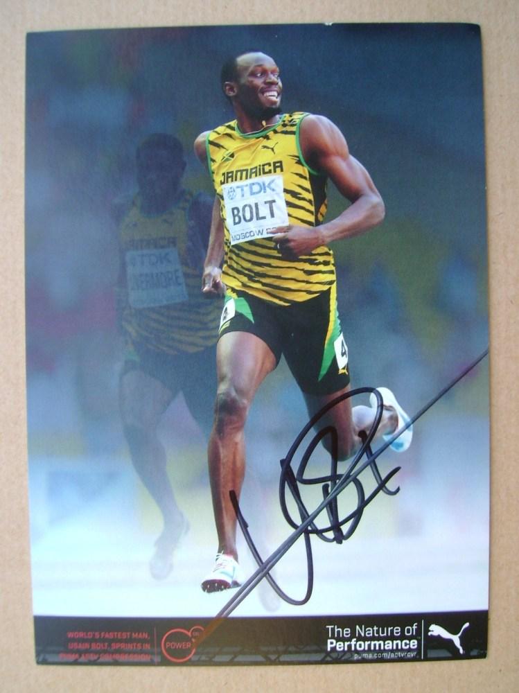 Usain Bolt autograph