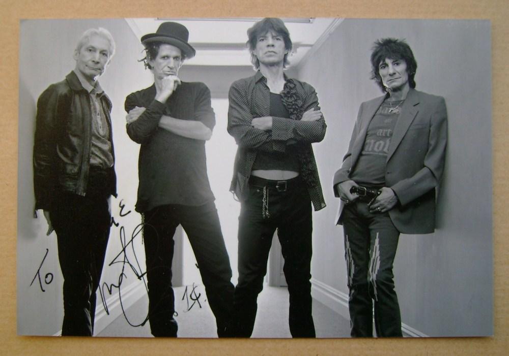 Charlie Watts autograph
