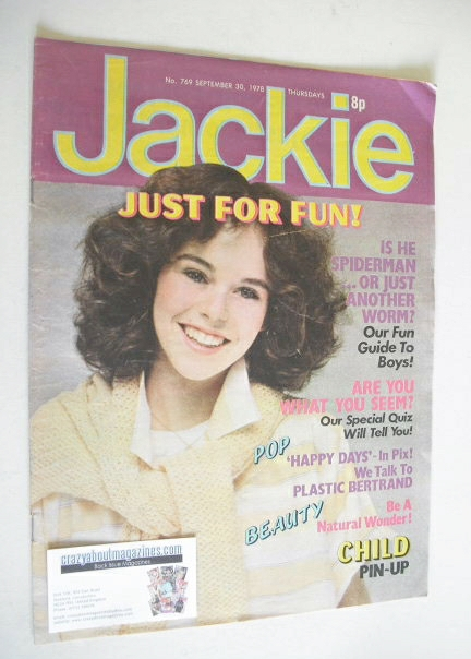 <!--1978-09-30-->Jackie magazine - 30 September 1978 (Issue 769)