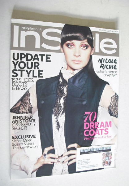 <!--2010-10-->British InStyle magazine - October 2010 - Nicole Richie cover
