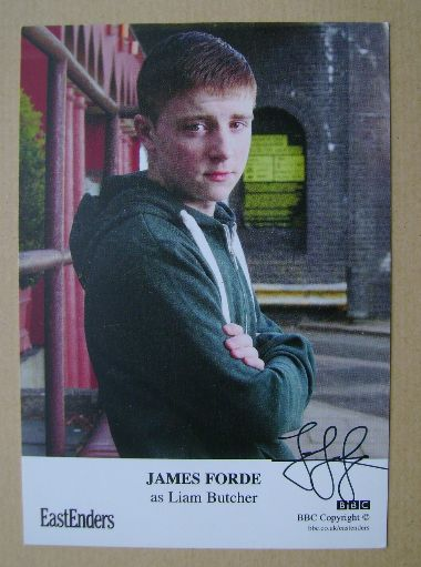 James Forde autographed photo (EastEnders actor)