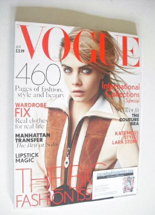 <!--2014-09-->British Vogue magazine - September 2014 - Cara Delevingne cov