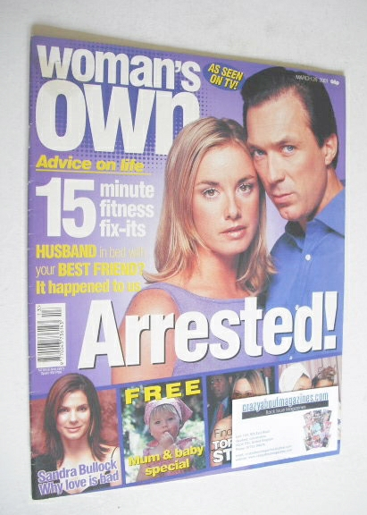 <!--2001-03-26-->Woman's Own magazine - 26 March 2001 - Tamzin Outhwaite an