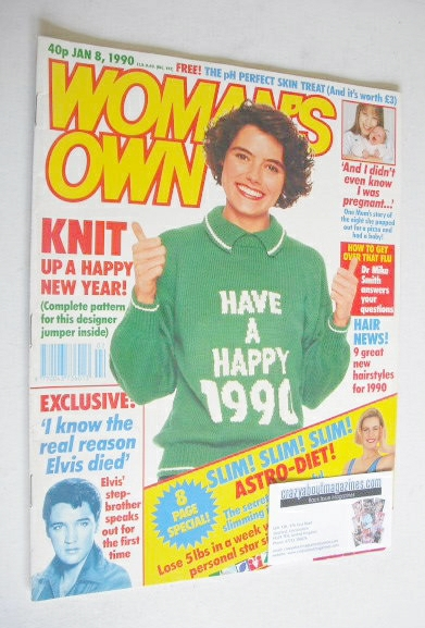 <!--1990-01-08-->Woman's Own magazine - 8 January 1990