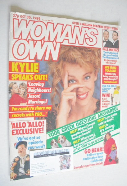 <!--1989-10-30-->Woman's Own magazine - 30 October 1989
