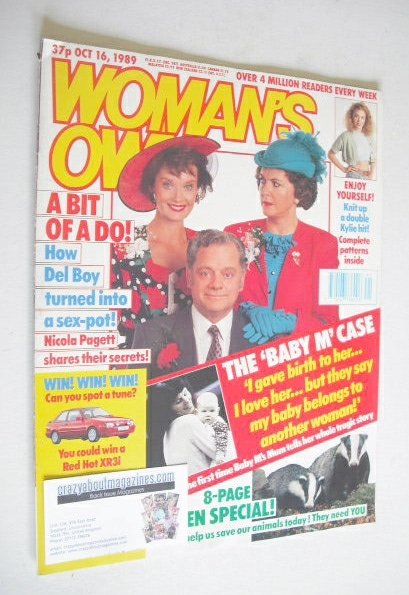 <!--1989-10-16-->Woman's Own magazine - 16 October 1989 - David Jason, Nico