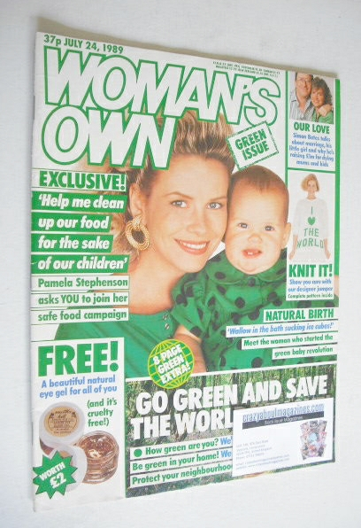 <!--1989-07-24-->Woman's Own magazine - 24 July 1989 - Pamela Stephenson co