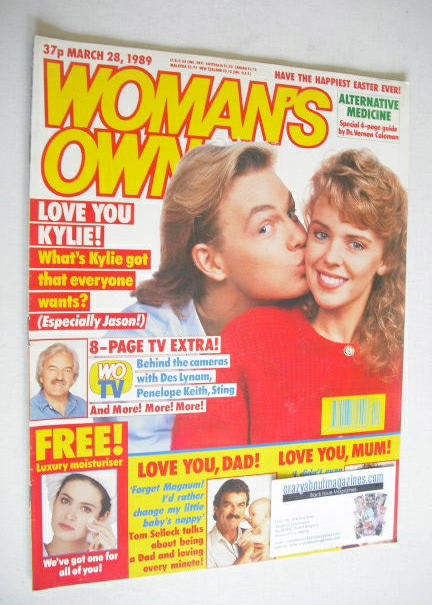 <!--1989-03-28-->Woman's Own magazine - 28 March 1989 - Kylie Minogue and J