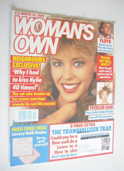 <!--1989-03-14-->Woman's Own magazine - 14 March 1989 - Kylie Minogue cover