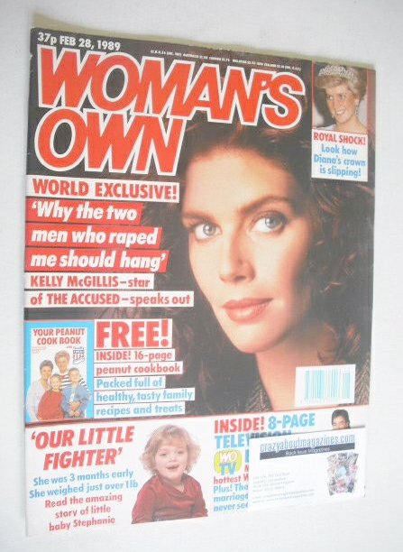 <!--1989-02-28-->Woman's Own magazine - 28 February 1989 - Kelly McGillis c