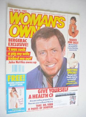 <!--1989-01-31-->Woman's Own magazine - 31 January 1989 - John Nettles cove