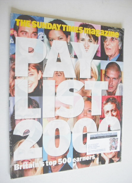 <!--2000-11-19-->The Sunday Times magazine - Pay List 2000 (19 November 200