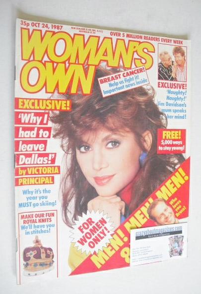 <!--1987-10-24-->Woman's Own magazine - 24 October 1987 - Victoria Principa