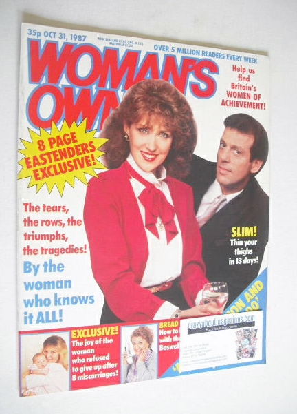 <!--1987-10-31-->Woman's Own magazine - 31 October 1987 - Anita Dobson and