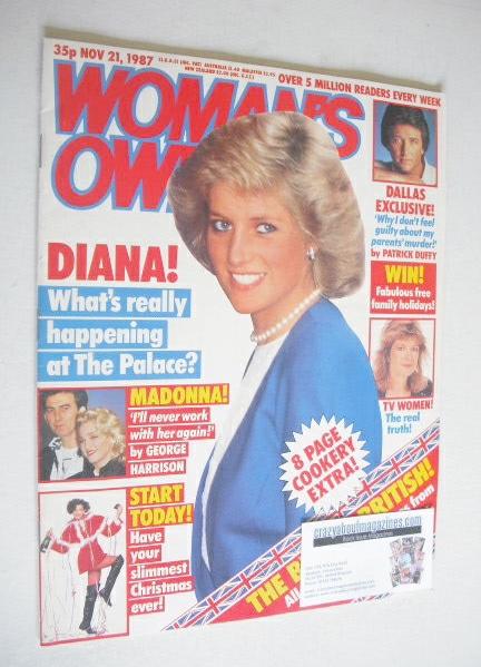 <!--1987-11-21-->Woman's Own magazine - 21 November 1987 - Princess Diana c