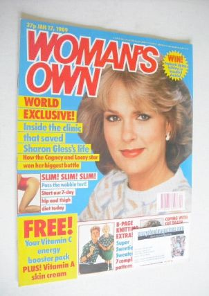 <!--1989-01-17-->Woman's Own magazine - 17 January 1989 - Sharon Gless cove