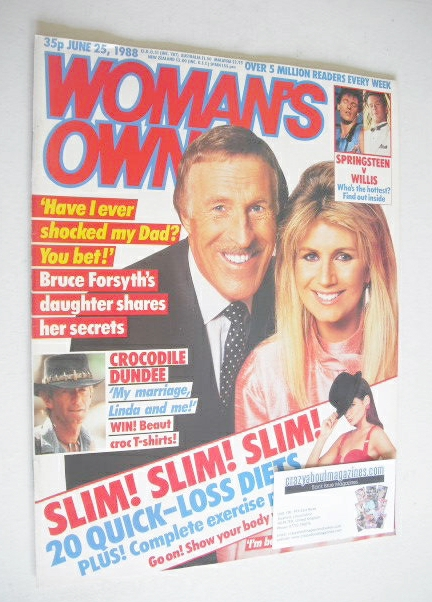 <!--1988-06-25-->Woman's Own magazine - 25 June 1988 - Bruce Forsyth and da
