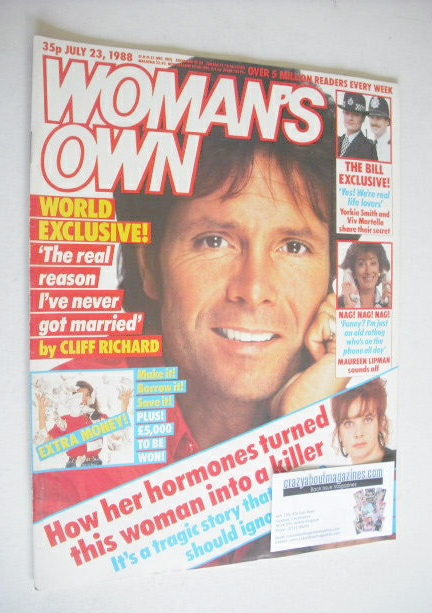 <!--1988-07-23-->Woman's Own magazine - 23 July 1988 - Cliff Richard cover
