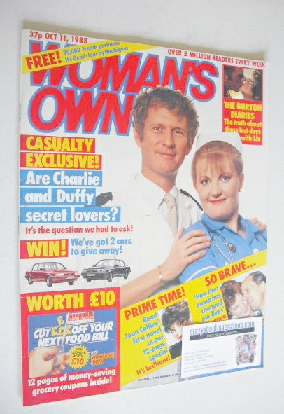 <!--1988-10-11-->Woman's Own magazine - 11 October 1988 - Derek Thompson an