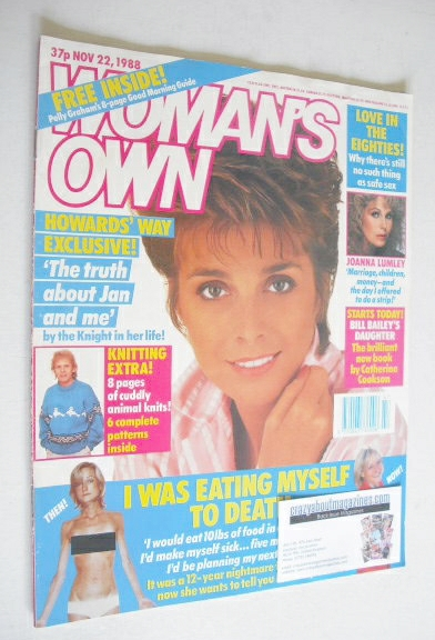 <!--1988-11-22-->Woman's Own magazine - 22 November 1988 - Jan Harvey cover