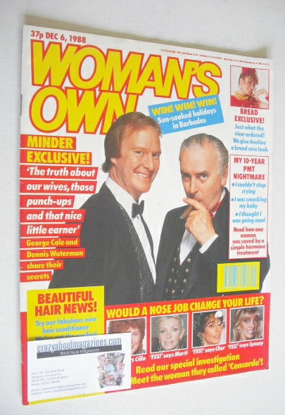 <!--1988-12-06-->Woman's Own magazine - 6 December 1988 - George Cole and D