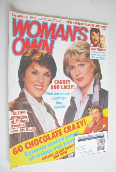 <!--1988-04-02-->Woman's Own magazine - 2 April 1988 - Sharon Gless and Tyn