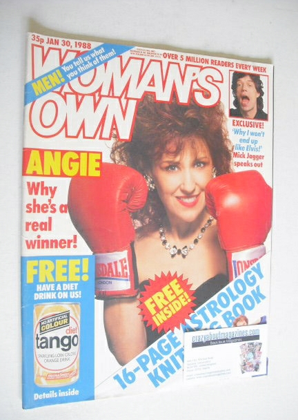 <!--1988-01-30-->Woman's Own magazine - 30 January 1988 - Anita Dobson cove