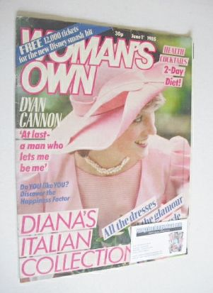 <!--1985-06-01-->Woman's Own magazine - 1 June 1985 - Princess Diana cover