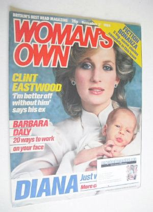 <!--1984-11-03-->Woman's Own magazine - 3 November 1984 - Princess Diana co