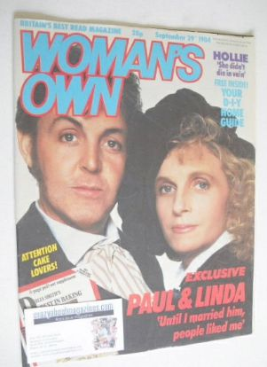 <!--1984-09-29-->Woman's Own magazine - 29 September 1984 - Paul and Linda