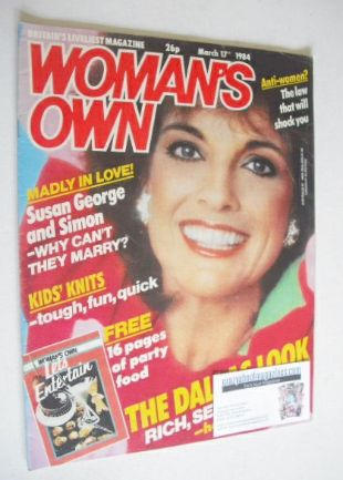 <!--1984-03-17-->Woman's Own magazine - 17 March 1984 - Linda Gray cover