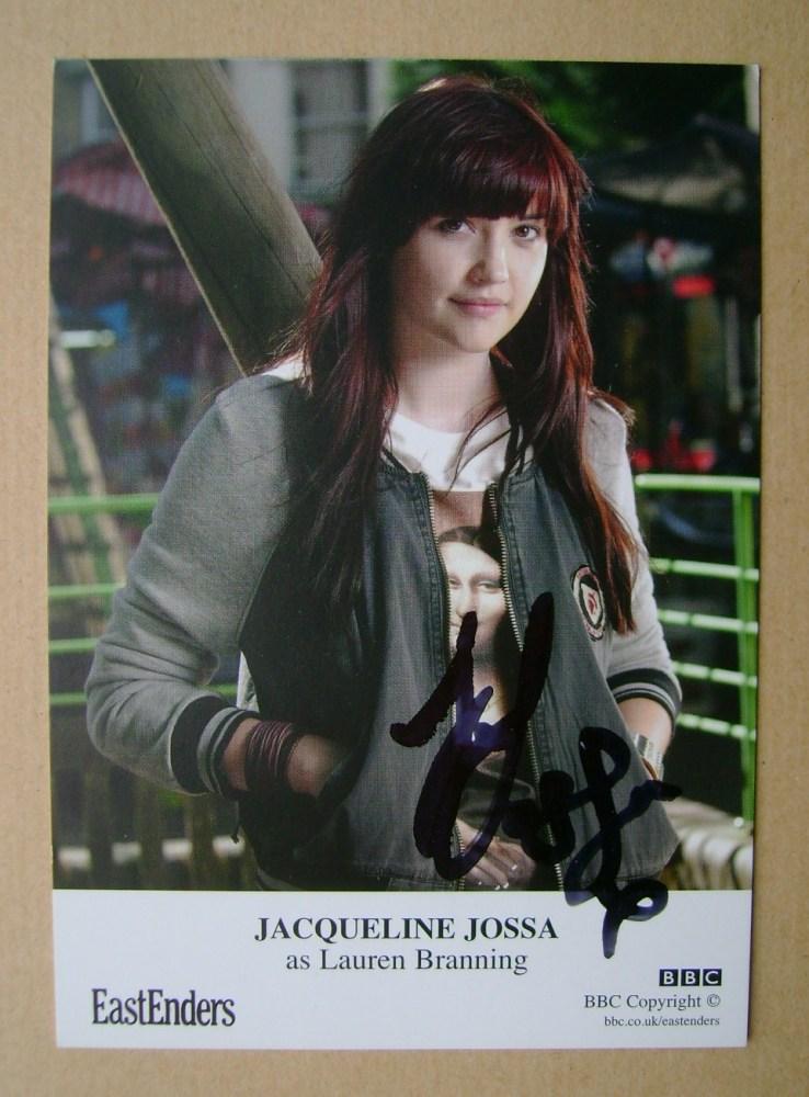 Jacqueline Jossa autograph (EastEnders actor)