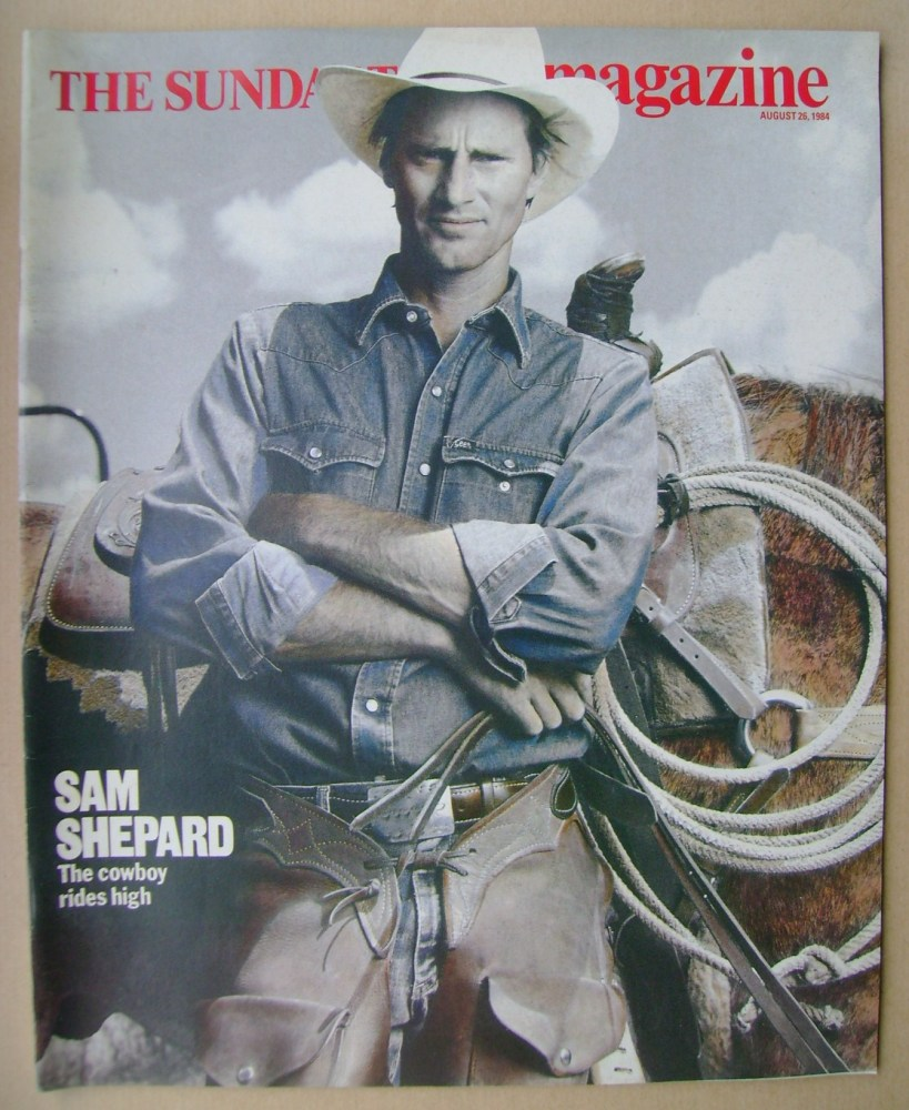 <!--1984-08-26-->The Sunday Times magazine - Sam Shepard cover (26 August 1