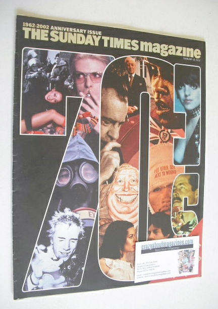 <!--2002-02-10-->The Sunday Times magazine - 1962-2002 Anniversary Issue (1