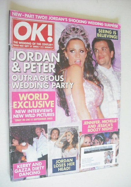 Ok Magazine Peter Andre And Katie Price Jordan Wedding Party Cover 27 September 2005 Issue 488